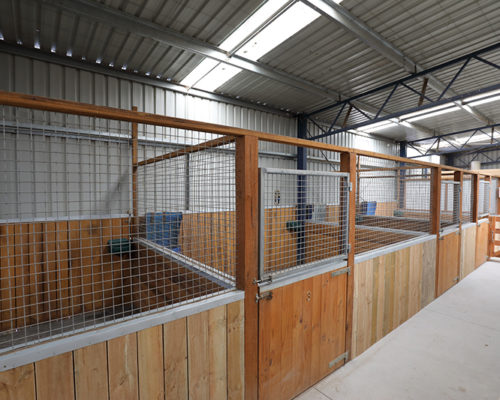 5 Rubber Floored Stables
